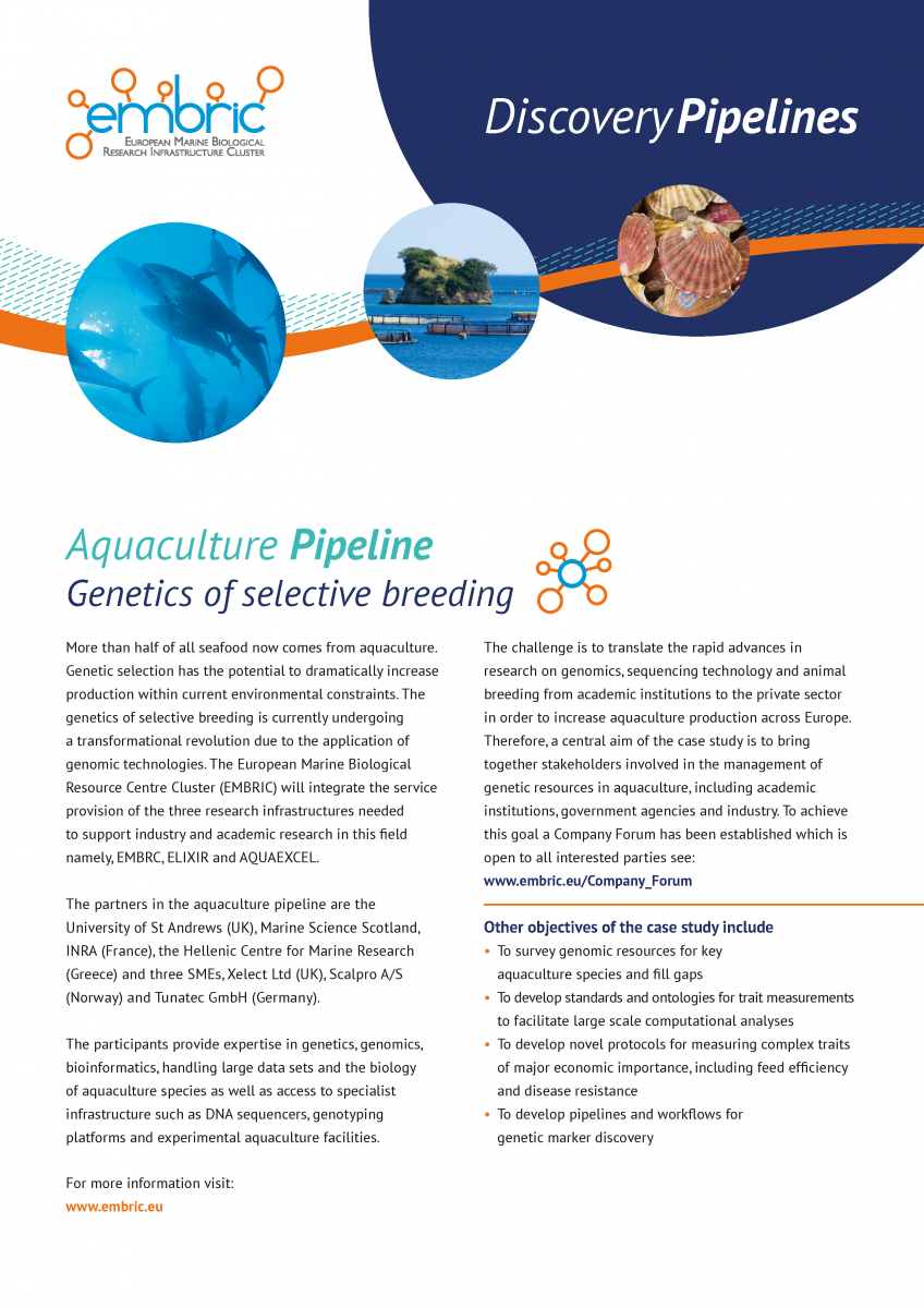 EMBRIC Aquaculture pipeline