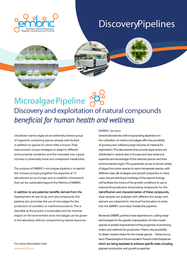 EMBRIC microalgae pipeline