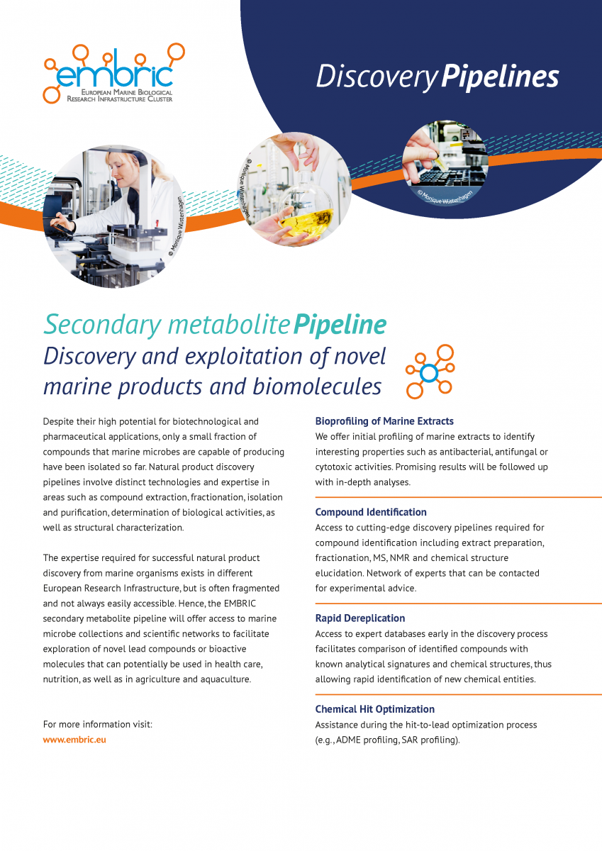 EMBRIC Secondary metabolie pipeline